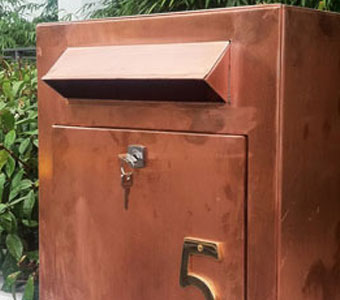 Custom Made Copper Stainless Steel And Zinc Letter Boxes