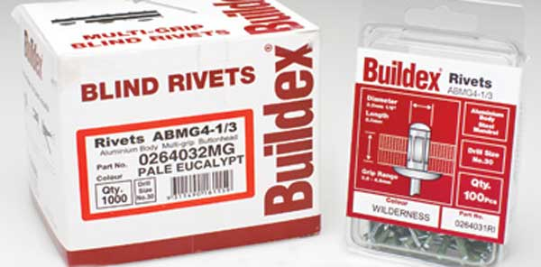 Buildex and Bremick Rivets supplies