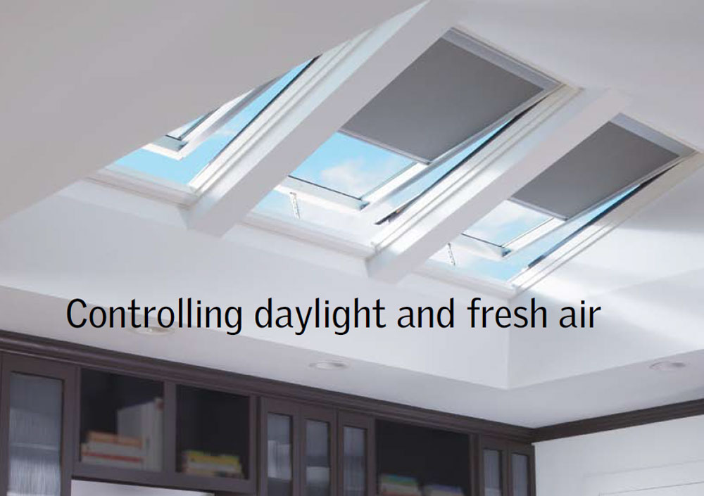 Velux skylights Controlling daylight and fresh air